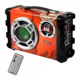 CAIXA DE SOM MOX MO-S12 PORTATIL MALETA BLUETOOTH / USB - VERMELHO