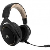 HEADSET CORSAIR HS70 WIRELESS 7.1 SURROUND ADAPTADOR USB - GOLD