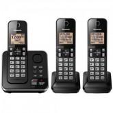 TELEFONE PANASONIC KXT-GC363LAB COM 3 BASE/SEC E BINA