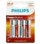 PILHA PHILIPS ALKALINA (AA) LR6-P4B/97 POWER LIFE