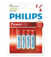 PILHA PHILIPS ALKALINA (AAA)LR03-P4B/97 POWER LIFE BLISTER