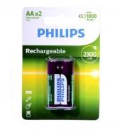 PILHA PHILIPS RECARGABLE (AAA)R03B2-A95/97 950-MAH