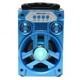 Caixa de Som Megastar HY-05BTA Bluetooth/USB Bateria 800 Mah - Azul