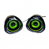 Caixa de Som Wesdar CS1 USB JACK Verde/Preto