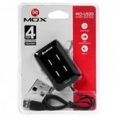 Hub USB Mox MO-US20 - 4 Portas - High Speed Preto