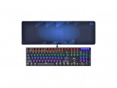 TECLADO GAMER MTEK MECHANICAL MK52UKA RGB+KEYPAD BLUE
