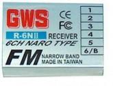 GWS R6NII72/J NARO Receptor FM 72Mhz p/ JR