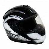 Capacete MT Helmets Alamo Evo Dream C4 - Fechado - Preto e Branco - M