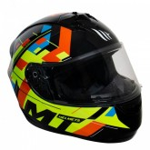 Capacete MT Helmets Alamo Evo Unlocked B0 Gloss - Fechado - Amarelo - M