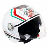 Capacete MT Helmets City Eleven Italy - Aberto - Branco - M