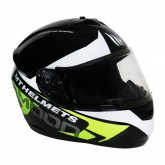 Capacete MT Helmets MT Alamo Evo Moon A1 - Fechado - Preto e Amarelo - XL