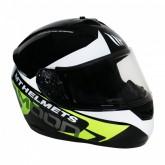 Capacete MT Helmets MT Alamo Evo Moon A1 - Fechado - Preto e Amarelo - XXL