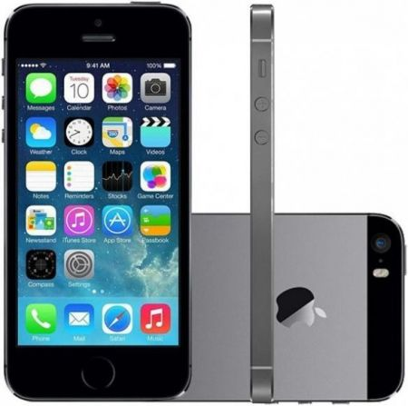 Celular Apple Iphone 5S - 4 Polegadas - 16GB - 4G LTE - Cinza