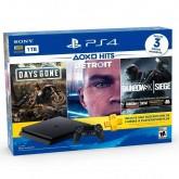 Console Sony Playstation 4 Slim 1TB + Days Gone + Detroit + Rainbow Six Siege