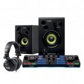 Kit Controlador Hercules DJ Starter Fone + Caixa de Som