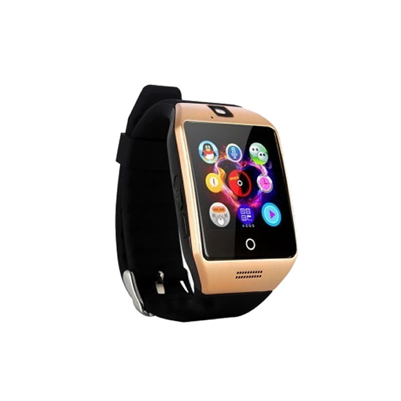 dfc8733754a Relogio Celular Smart Watch - Chip - Dourado - Quadrado na Tche Loco ...