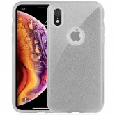 Capa 4Life Glitter para iPhone Xr Material TPU/PC - Prata