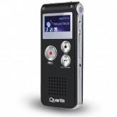Gravador de Voz Quanta QTG220I para Até 18 Horas de Gravação - Preto