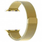 Pulseira 4Life Estilo Milanês para Apple Watch 42mm, Magnético - Dourado