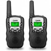 Rádio Comunicador Quanta QTRAC03 para até 3km, 22 Canais/10 tons Bivolt - Preto