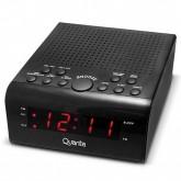 Rádio Relógio Ogio Quanta QTRAR4300R AM/FM Bivolt - Preto