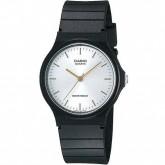 Relógio Analógico Casio MQ-24-7E2LDF Masculino Pulseira de Silicone - Preto