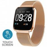 Smartwatch 4Life Neofit 3 para Atividades Físicas com Bluetooth Pulseira Estilo Milanês - Dourado