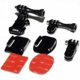 Suporte Frontal de Capacete Quanta QTSCA525 para Câmeras de Ação - Preto