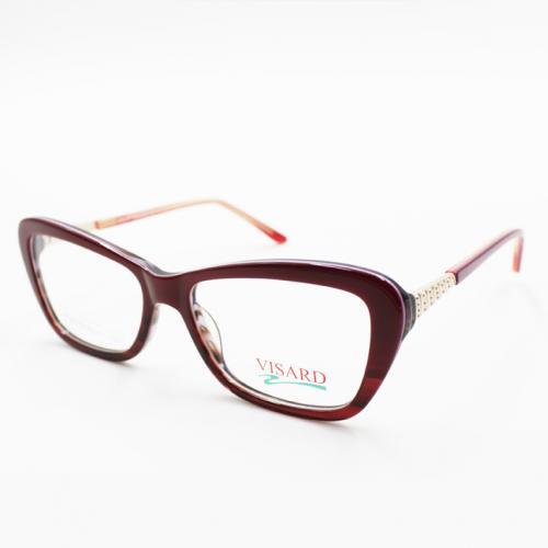 e38d924fb Óculos De Grau Visard Bc 8175 C2 53-17-140 - Vermelho/roxo na ...
