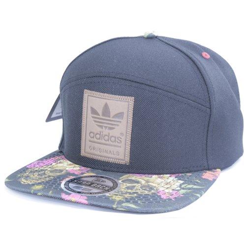c4c7d37a49 Bone Aba Reta Snapback Adidas Preto-flores Craneos na Victoria Store ...