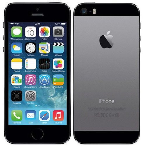 Celular Apple iPhone 5S 16GB Space Gray A1457 Homologado Anatel RB - Sem Garantia
