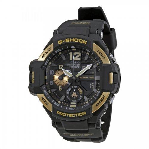 fd039f50f46 ... Victoria Store código 166024. Relógio Casio Masculino Preto Dourado  GA1100-9G