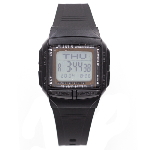 3c2aceb436d Relógio Digital Atlantis 7189g Masculino Borracha - Preto na ...