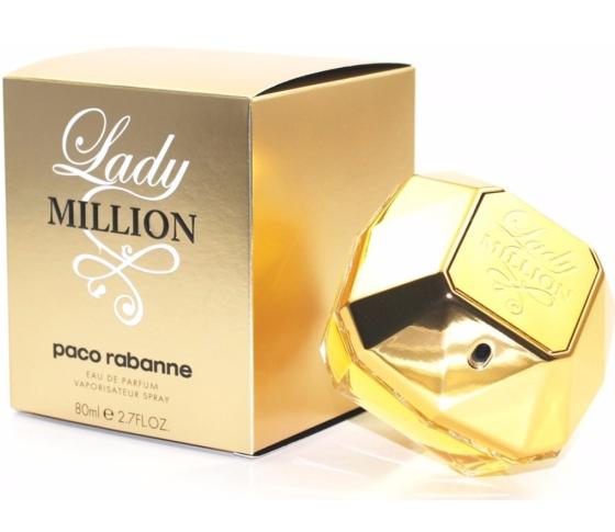 de3dbe0a50 Perfume Paco Rabanne Lady Million Feminino 80ML - LojasParaguai.com.br