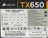Fonte para PC Corsair TX Series 650W