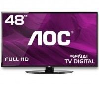 TV AOC LED LE48H454 Full HD 48 no Paraguai